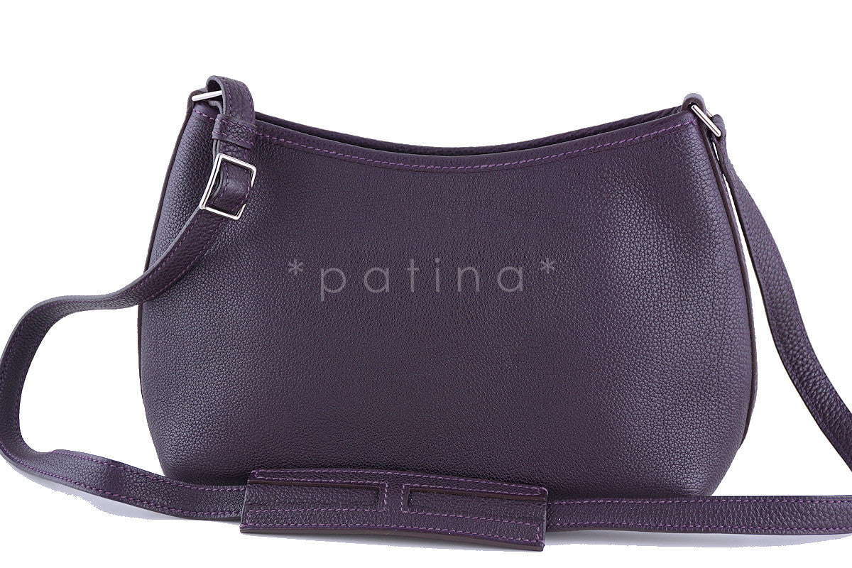 Hermes Raisin Purple Togo Bullcalf Berlingot Cross Body Bag - Boutique Patina  - 1