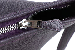 Hermes Raisin Purple Togo Bullcalf Berlingot Cross Body Bag - Boutique Patina  - 6