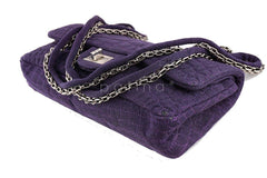 xChanel Purple Crocodile Canvas Quilted East West 2.55 Reissue Flap Bag - Boutique Patina  - 6