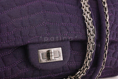 xChanel Purple Crocodile Canvas Quilted East West 2.55 Reissue Flap Bag - Boutique Patina  - 7