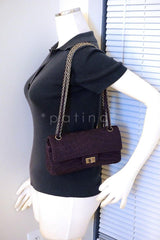 xChanel Purple Crocodile Canvas Quilted East West 2.55 Reissue Flap Bag - Boutique Patina  - 12
