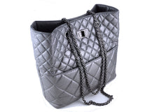 Chanel Silver Gray Tall Quilted Large Classic Reissue Tote Bag - Boutique Patina  - 1