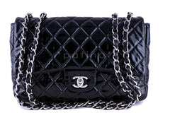 Chanel Black Patent Jumbo 2.55 Classic Flap Bag - Boutique Patina  - 1