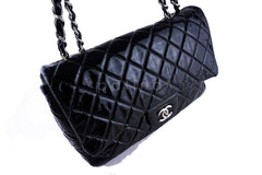 Chanel Black Patent Jumbo 2.55 Classic Flap Bag - Boutique Patina  - 2
