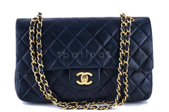 Chanel Navy Lambskin Medium-Large Classic 2.55 Double Flap Bag - Boutique Patina  - 1