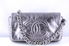 Chanel Silver Luxury Chunky Modern Chain Classic Flap Bag - Boutique Patina  - 1