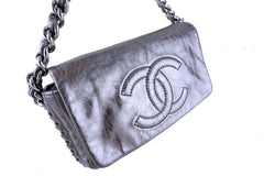 Chanel Silver Luxury Chunky Modern Chain Classic Flap Bag - Boutique Patina  - 2