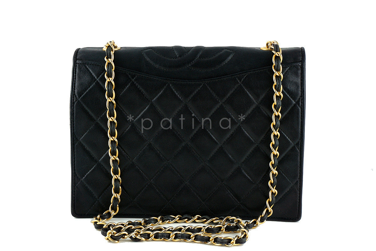 Chanel Black Quilted Vintage Timeless Classic Flap Bag