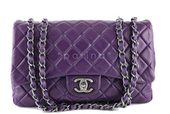 Chanel Violet Purple Lambskin Jumbo 2.55 Classic Flap Bag - Boutique Patina  - 1