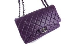 Chanel Violet Purple Lambskin Jumbo 2.55 Classic Flap Bag - Boutique Patina  - 2