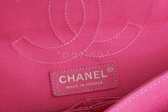 Chanel Pink Crocodile Print Reissue Flap, Canvas Classic Bag