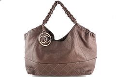 Chanel Rare Rose Gold/Bronze Calfskin Baby Coco Cabas Tote Bag - Boutique Patina  - 2