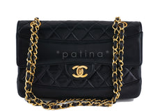 Chanel Black Vintage Quilted Classic 2.55 Flap and Wallet set Bag - Boutique Patina  - 1