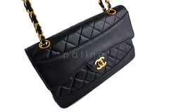 Chanel Black Vintage Quilted Classic 2.55 Flap and Wallet set Bag - Boutique Patina  - 2