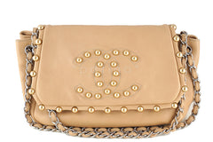 Chanel Beige Rare Pearl Obsession Jumbo Classic Accordion Flap Bag - Boutique Patina  - 1