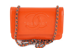 New Chanel Orange Patent Caviar Timeless Classic WOC Wallet on Chain Bag - Boutique Patina  - 1