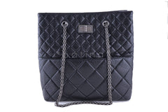 Chanel Black Tall Quilted Large Classic Reissue Tote Bag