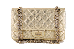 Chanel Gold Classic Reissue 2.55 Double Flap 224 Bag - Boutique Patina  - 1