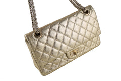 Chanel Gold Classic Reissue 2.55 Double Flap 224 Bag - Boutique Patina  - 2
