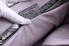 Limited Christian Dior Large Granville Python Gris Fonce Gray Messenger Tote Bag - Boutique Patina  - 13