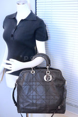 Limited Christian Dior Large Granville Python Gris Fonce Gray Messenger Tote Bag - Boutique Patina  - 14