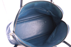 Hermes Blue Thalassa Clemence 35/37cm Mou Bolide Shoulder Tote Bag - Boutique Patina  - 7