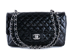 Chanel Black Patent Quilted Classic Medium 2.55 Flap Bag - Boutique Patina  - 1