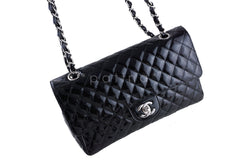 Chanel Black Patent Quilted Classic Medium 2.55 Flap Bag - Boutique Patina  - 2