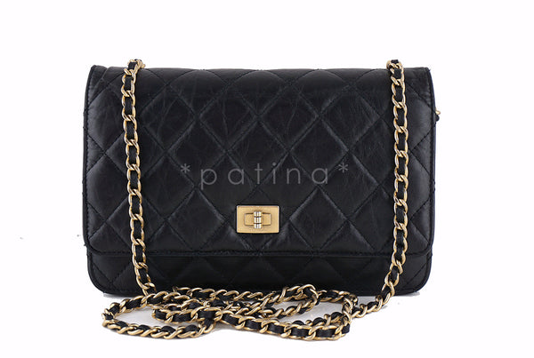Chanel Black Classic Reissue WOC Wallet on Chain Bag