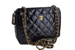 Chanel Black Quilted Classic Large Camera Case CC Clasp Pocket  Bag - Boutique Patina  - 2