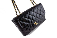 Chanel Black Vintage Patent Classic Medium 2.55 Quilted Flap Bag - Boutique Patina  - 2