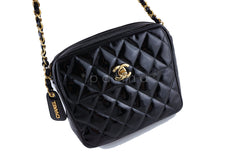 Chanel Patent Black Classic Quilted Small Flap Camera Case Bag - Boutique Patina  - 2