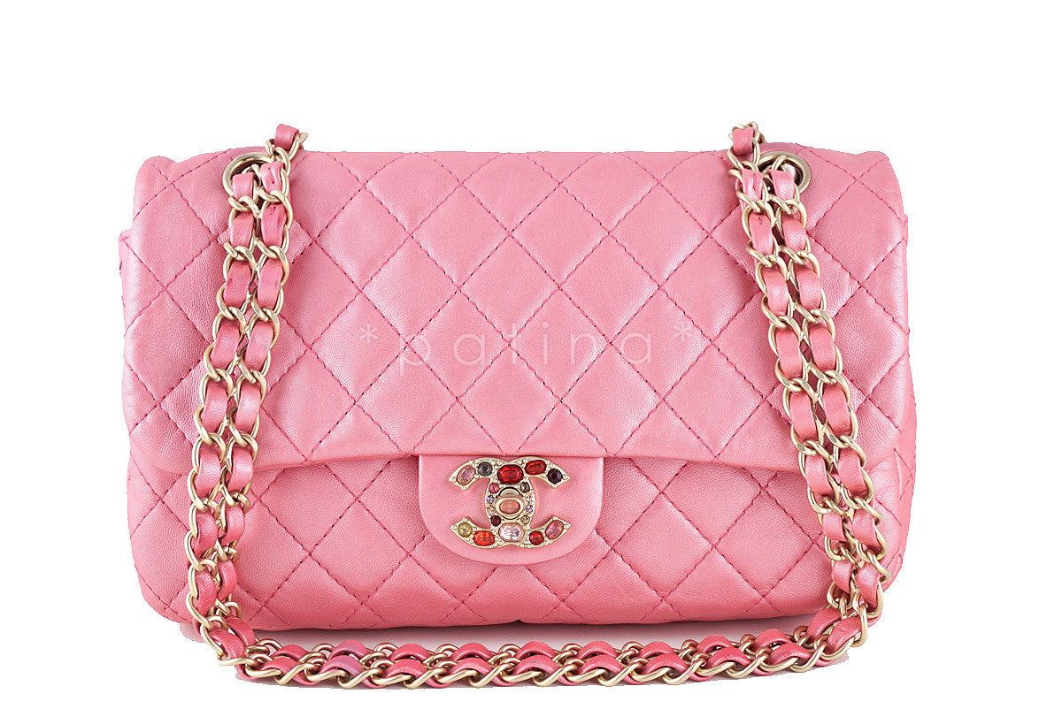 Chanel Limited Pearl Pink Precious Jewel Classic Flap Bag