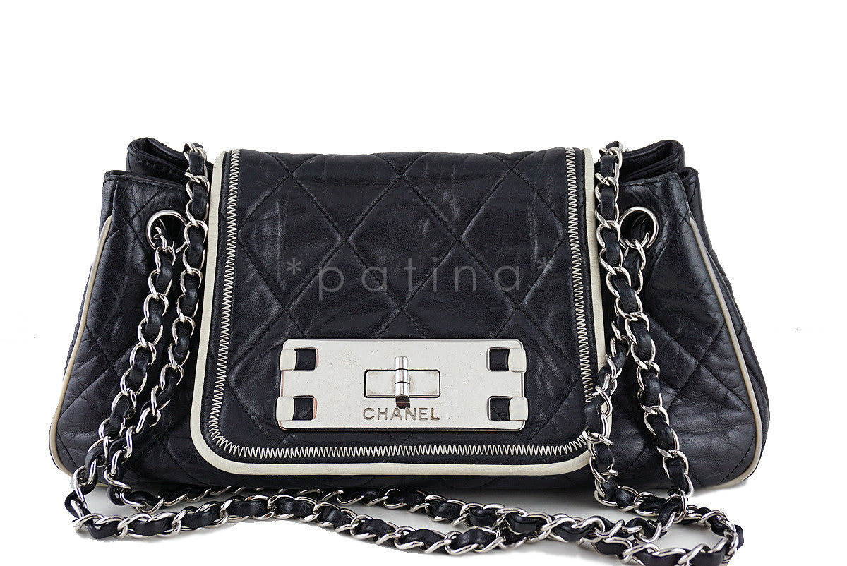 Chanel Black Jumbo Classic Flap Giant Reissue Lock East West Bag