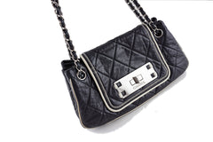 Chanel Black Jumbo Classic Flap Giant Reissue Lock East West Bag - Boutique Patina  - 2