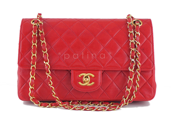 Chanel Vintage Red Classic Double Flap Medium-Large 2.55 Bag