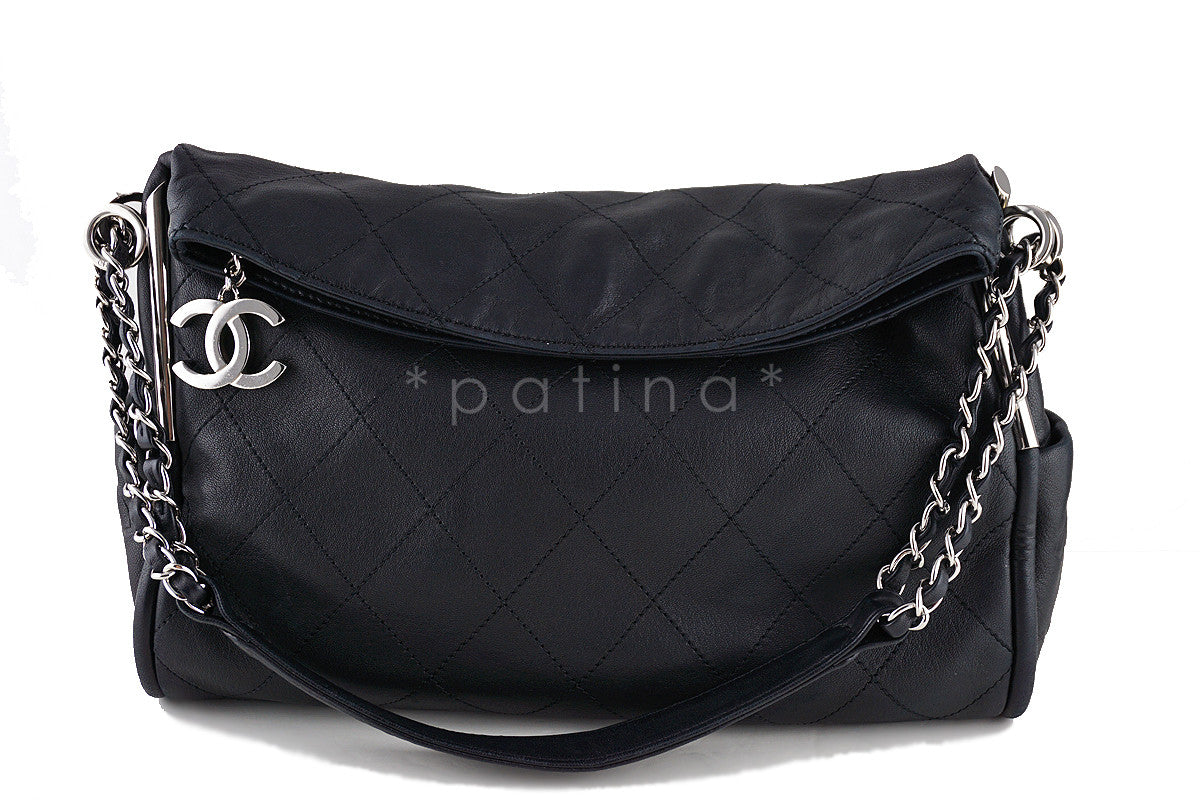 Chanel Black Lambskin Quilted Ultimate Soft Flap  Bag - Boutique Patina  - 1