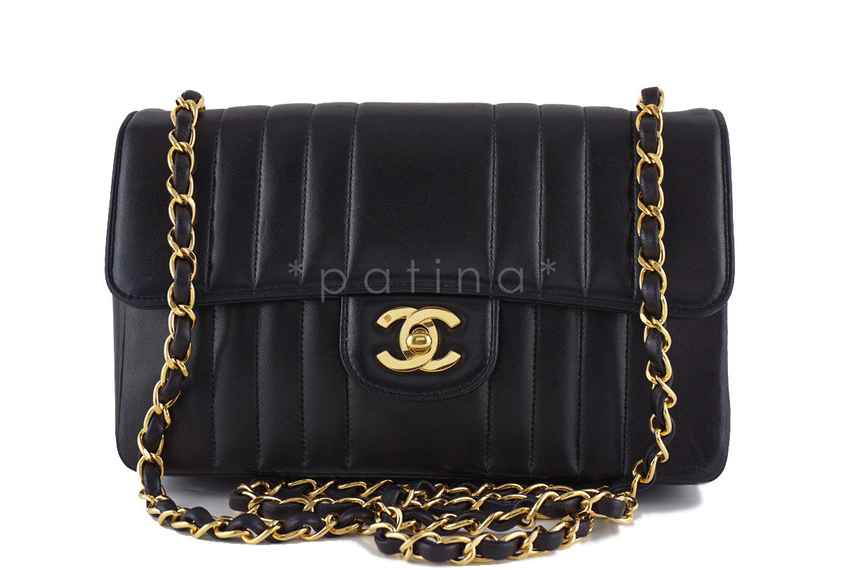 Chanel Vintage Black Mademoiselle Classic Medium Flap Bag