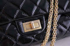 Chanel Black Large Patent 227 Reissue Classic 2.55 Jumbo Flap Bag - Boutique Patina  - 7