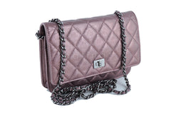 Chanel Metallic Rose Classic Reissue WOC Wallet on Chain Bag - Boutique Patina  - 2