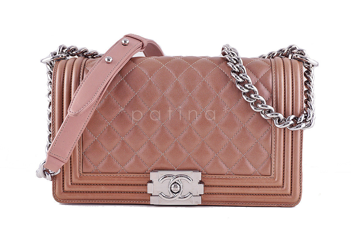 Chanel Le Boy Bronze Classic Flap Lambskin Bag