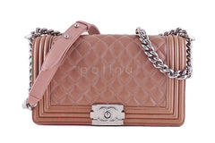 Chanel Le Boy Bronze Classic Flap Lambskin Bag - Boutique Patina  - 1
