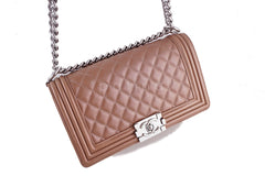 Chanel Le Boy Bronze Classic Flap Lambskin Bag - Boutique Patina  - 2