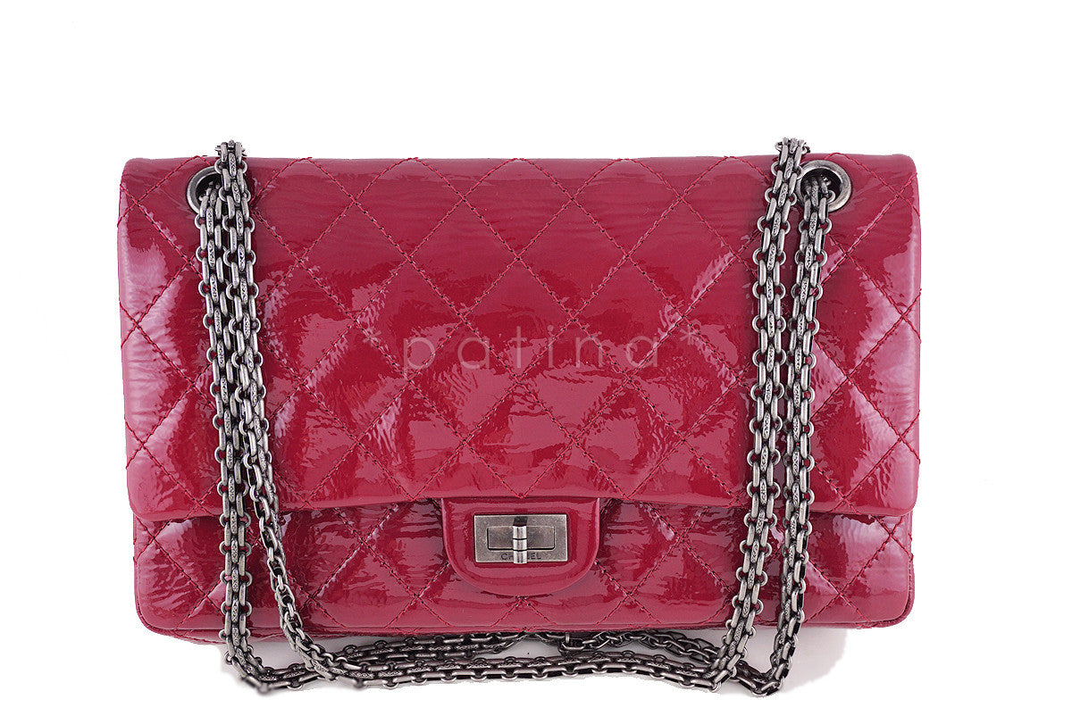 40dc5bc415f5 Chanel Raspberry Dark Pink Patent 226 Reissue Classic 2.55 Double Flap