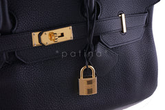 Hermes Black 42cm Clemence Shoulder Birkin II JPG Bag, Pristine - Boutique Patina  - 9