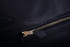 Hermes Black 42cm Clemence Shoulder Birkin II JPG Bag, Pristine - Boutique Patina  - 13