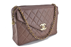 Chanel Taupe Brown Vintage Caviar Jumbo Giant Flap Classic Camera Bag - Boutique Patina  - 2
