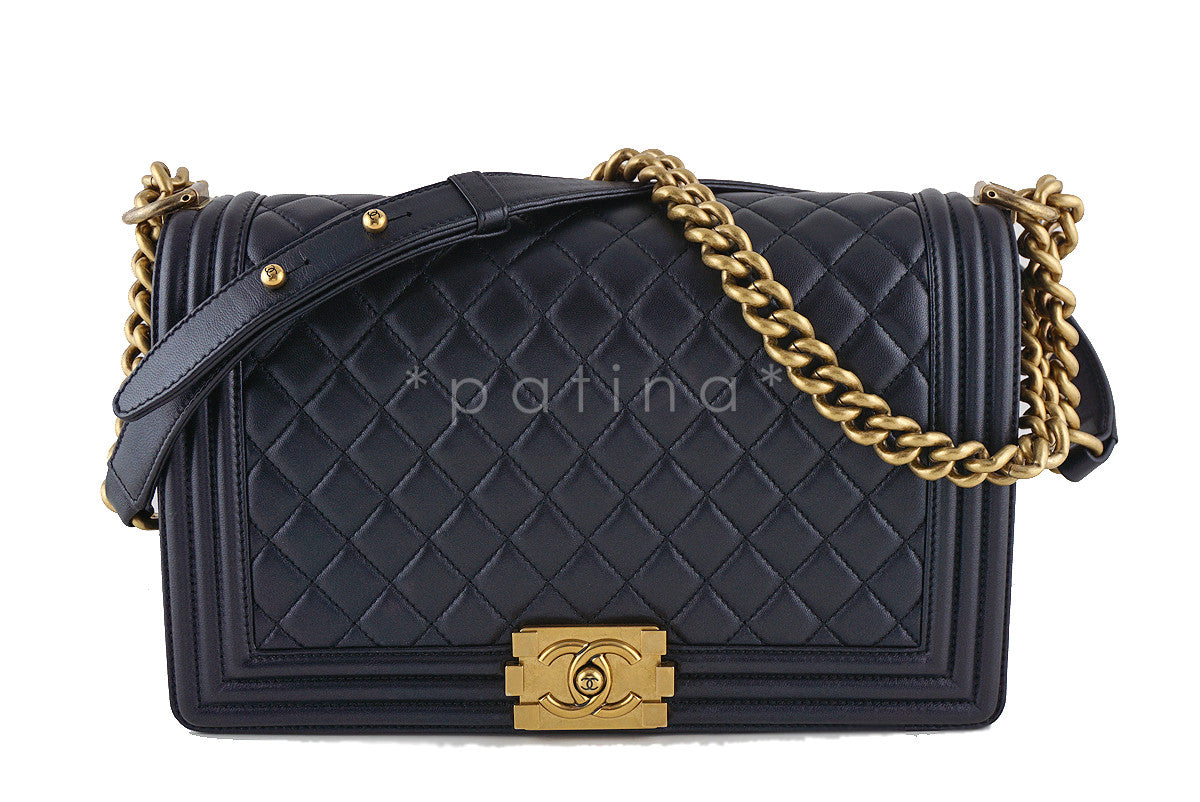 Chanel Pearly Black Le Boy Classic 11in. Flap Bag