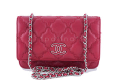 Chanel Red Sensual Quilt Stitched Classic WOC Wallet on Chain Bag - Boutique Patina  - 1