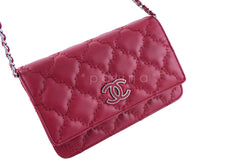 Chanel Red Sensual Quilt Stitched Classic WOC Wallet on Chain Bag - Boutique Patina  - 2